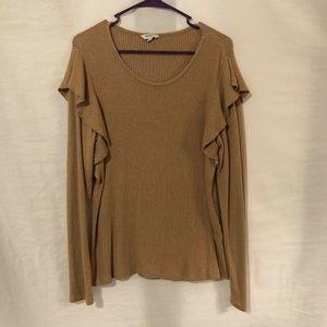 Lucky Brand XL Blouse Ribbed Top Wings